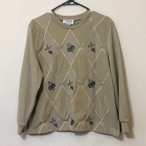 Women's Alfred Dunner Petite Sweater Size PL